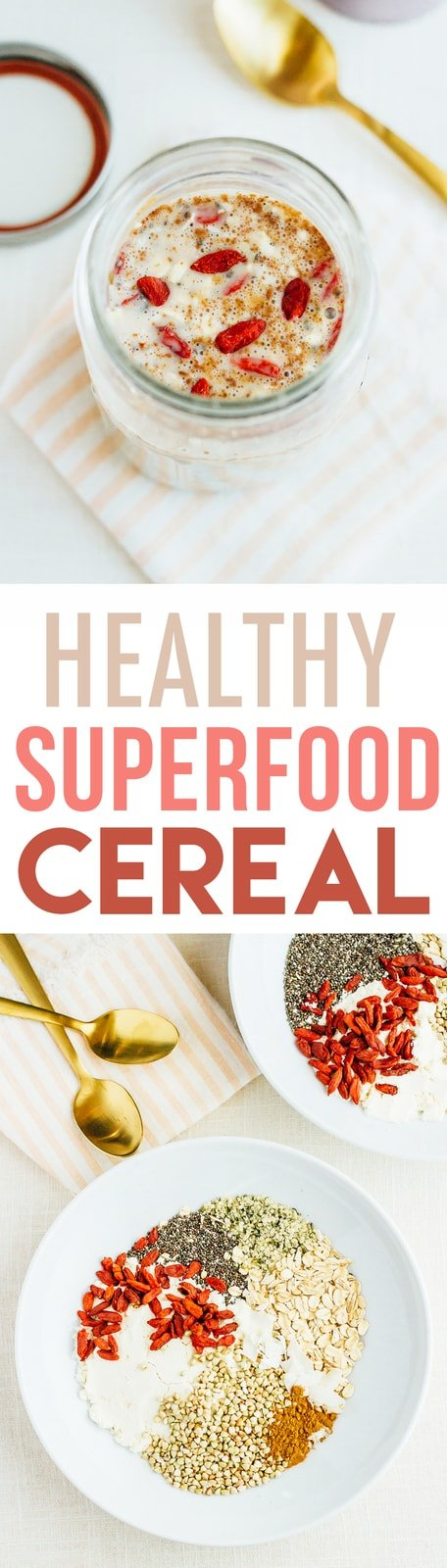 HEALTHY Homemade Superfood Cereal