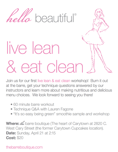 Live Lean Eat Clean