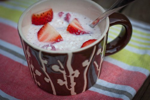 Protein Packed Strawberries and Cream