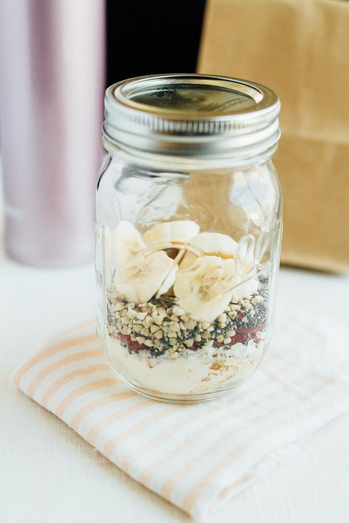 Cereal lovers rejoice! This healthy superfood cereal is loaded with nutrient-dense foods, plus it's gluten free, has no added sugars and packs a nice punch of omega-3s and protein. Put the cereal in a mason jar for easy transport when you need a quick on-the-go breakfast!