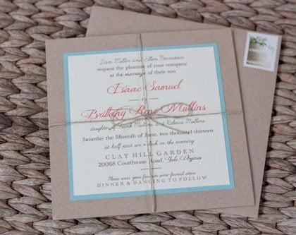 Wedding Update – Our Invitations