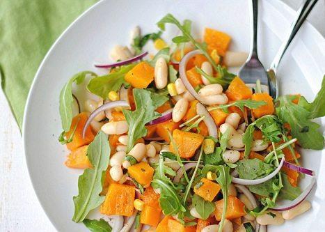 Butternut Squash & Arugula Salad