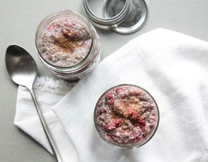 Raspberry Cacao Chia Seed Pudding