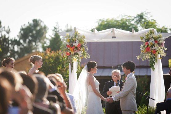 Rustic Wedding Details // Flowers on Arbor