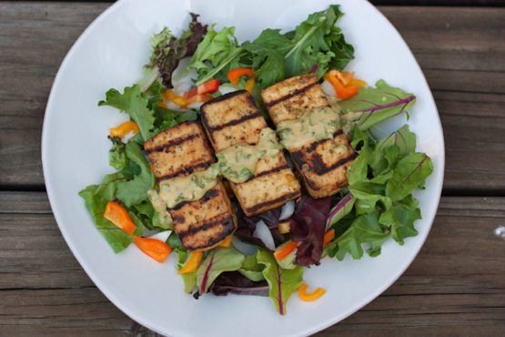 Grilled Lemon Basil Tofu