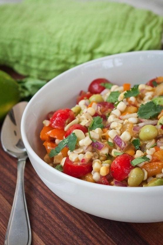 Edamame Summer Salad with Radishes