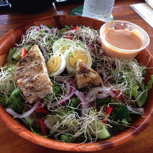 salad from Cane Bay