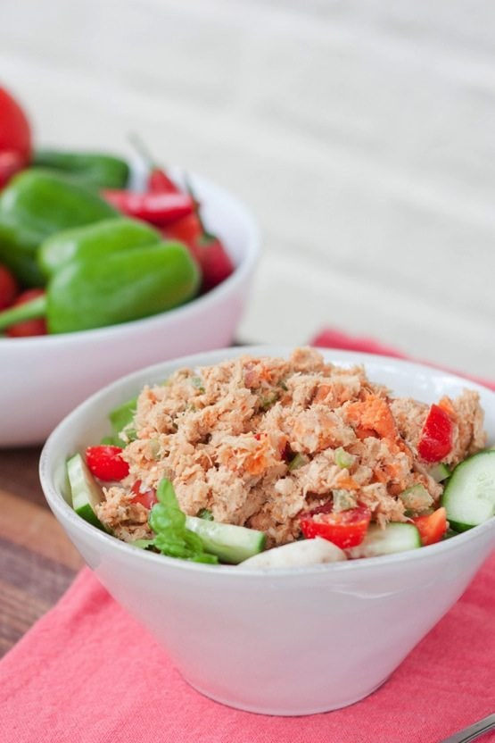 No Mayo Sweet Potato Tuna Salad