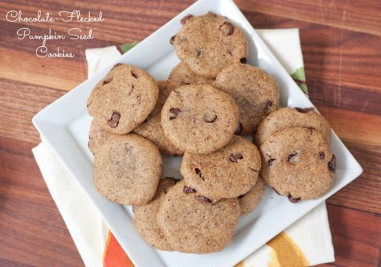 Chocolate-flecked Pumpkin Seed Cookies