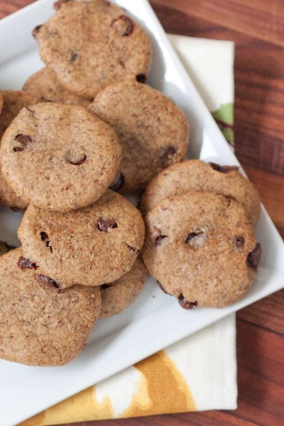 Chocolate-flecked Pumpkin Seed Cookies