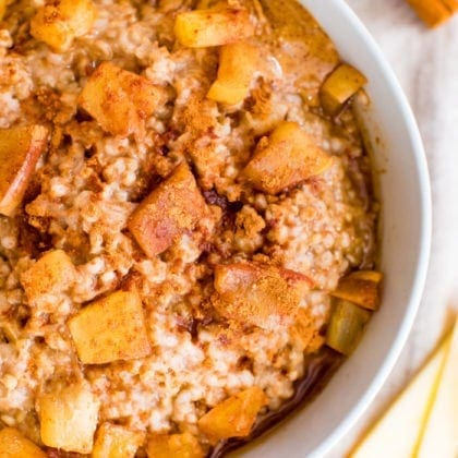 Apple Cinnamon Oatmeal | Slow Cooker or Instant Pot