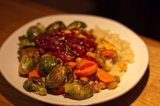 balsamic roasted brussels