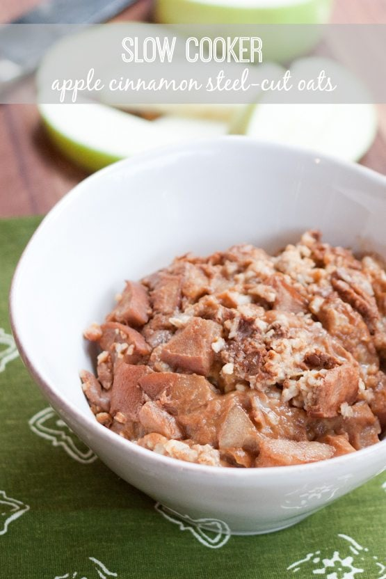 Slow Cooker Apple Cinnamon Steel-Cut Oats