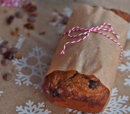 Cranberry Chocolate Chip Banana Bread (Vegan)