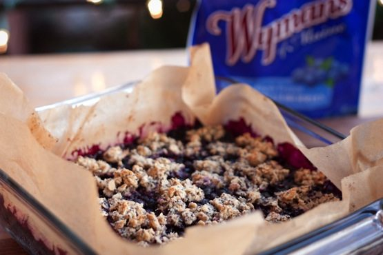 Wild Blueberry Crumble (vegan & gluten-free)