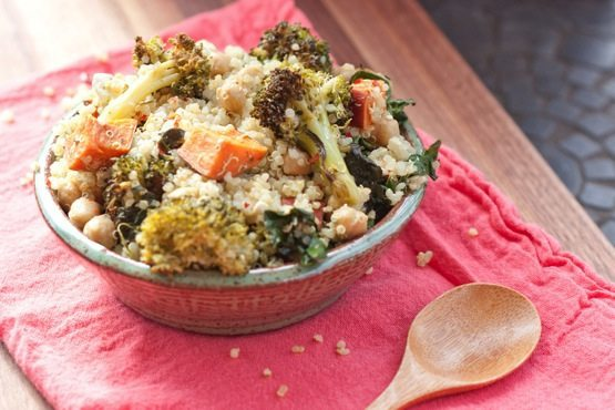Roasted Broccoli & Kale Quinoa Salad