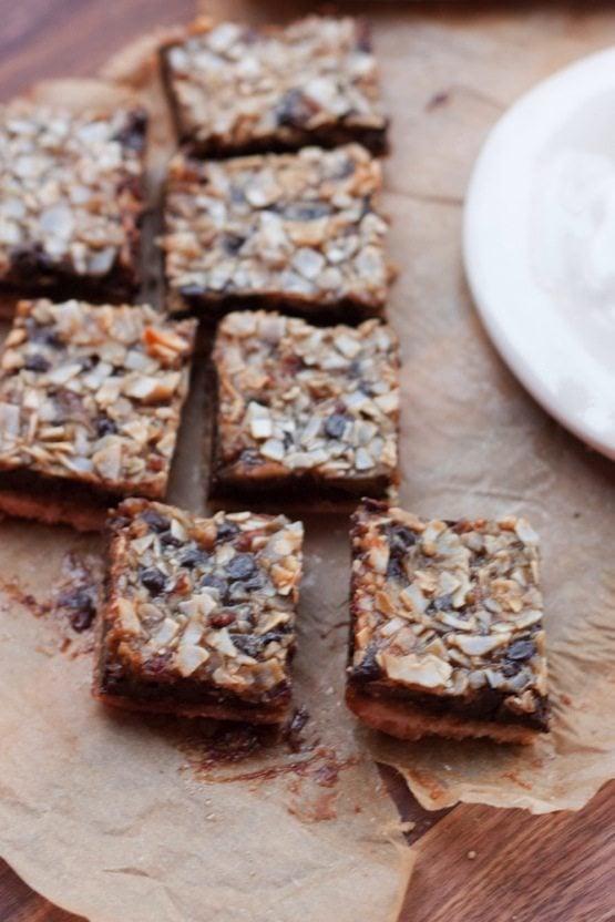 Healthier Magic cookie bars (vegan + grain-free)