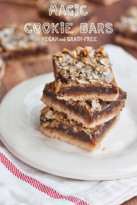 Healthier Magic cookie bars (vegan + grain-free) -- Perfect for Valentine's Day