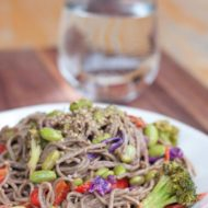 Soba Noodles with Edamame and a Spicy Miso Sauce