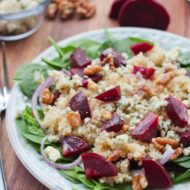 Spinach, Beet and Quinoa Power Salad