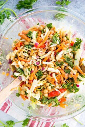 Kale & Cabbage Pad Thai Salad