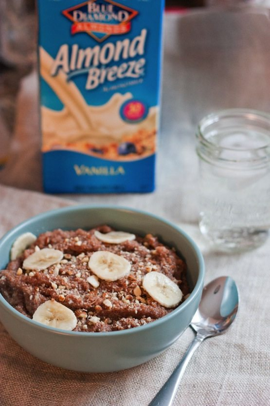 Banana Almond Teff Porridge