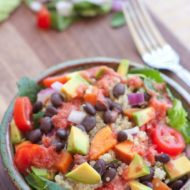 Quinoa & Black Bean Bowl with Blood Orange Sriracha Vinaigrette
