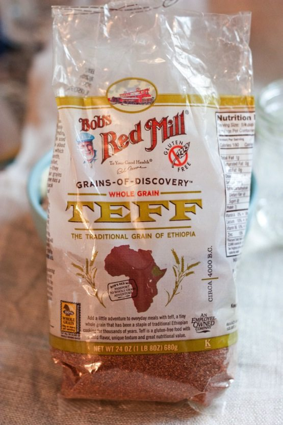 Package of Bob's Red Mill Whole Grain Teff.