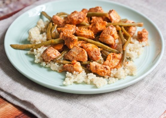 Clean Eating Orange Chicken with Green Beans