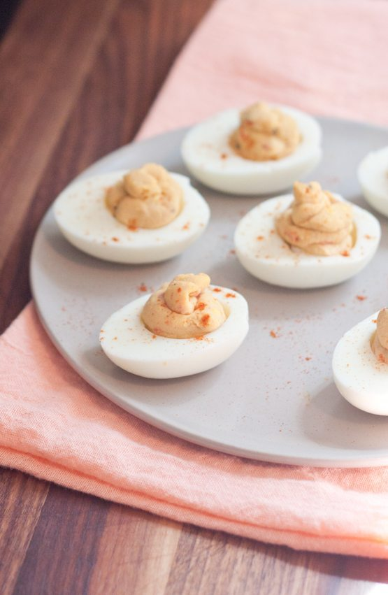 2 Ingredient Hummus Deviled Eggs