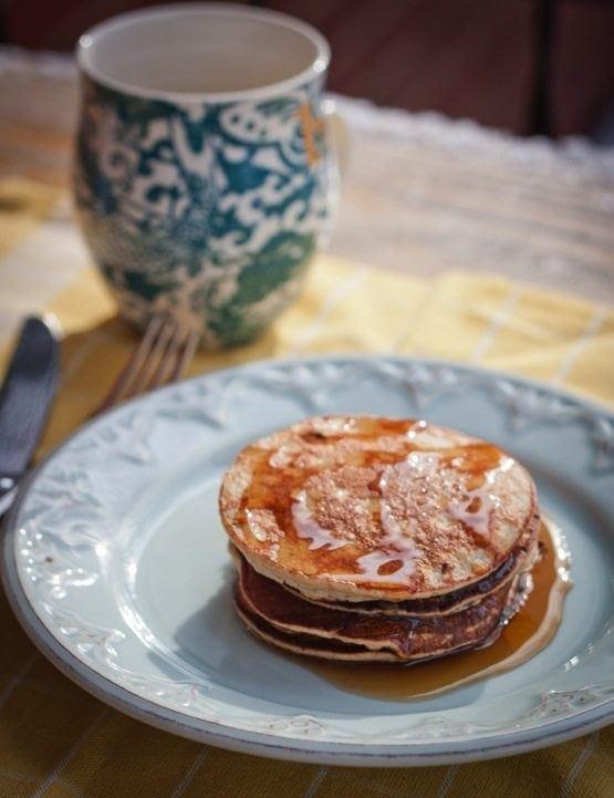 Peanut Flour Protein Pancakes