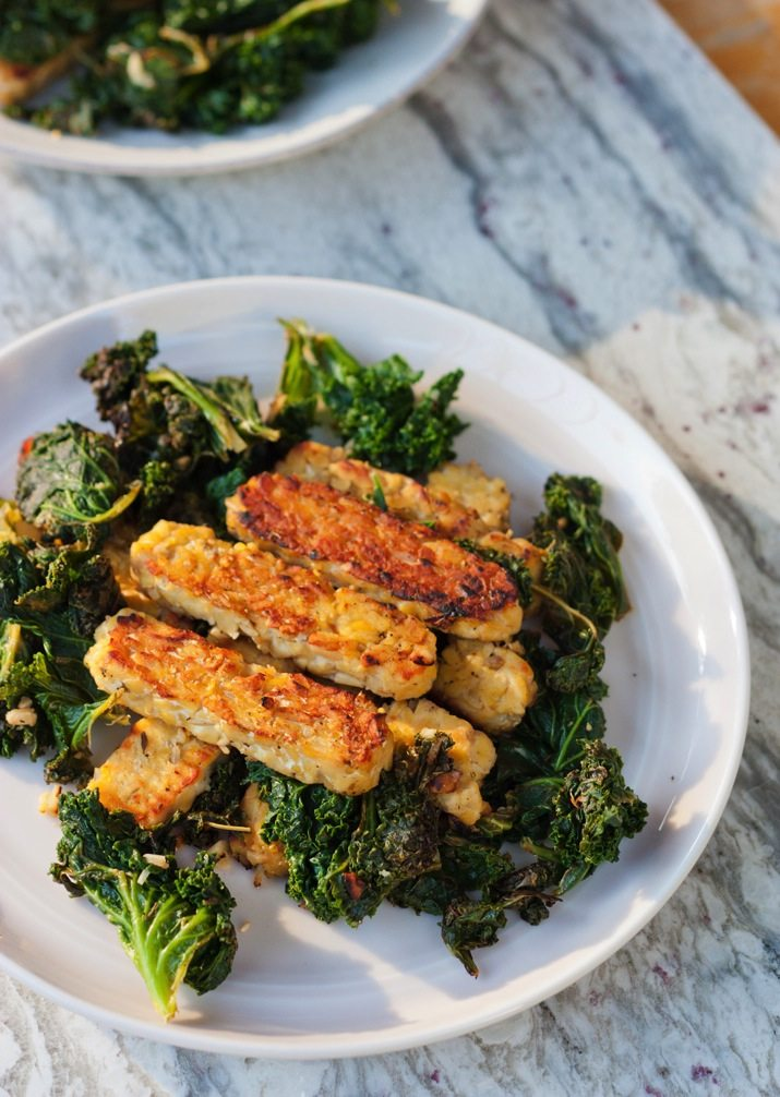 21 Day Fix Approved -- Lemon Garlic Tempeh