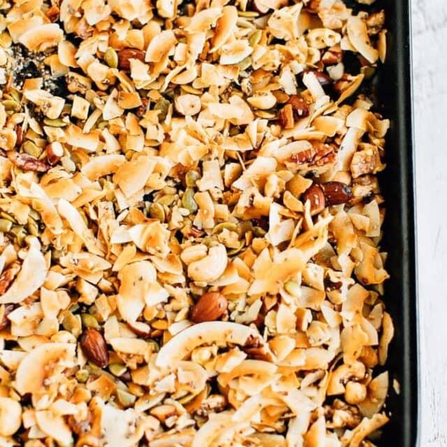 5-Ingredient Grain Free Granola (No Sugar)