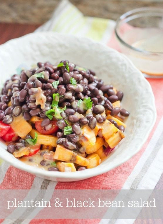 Plantain and Black Bean Salad
