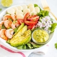 Hearts of Palm Avocado Salad with Shrimp