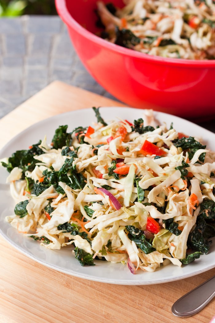 Kale and Cabbage Pad Thai Salad