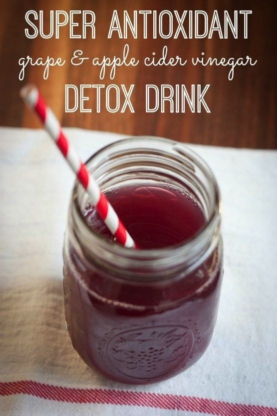 Apple Cider Vinegar and Grape Antioxidant Drink | Eating
