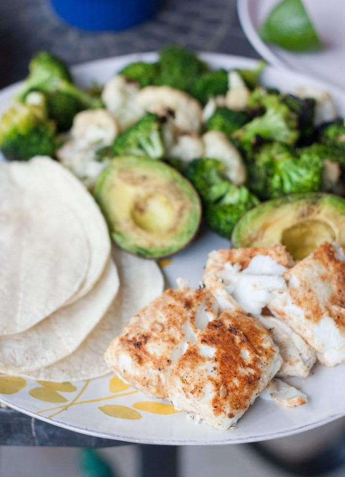 Grilled Fish Taco Spread