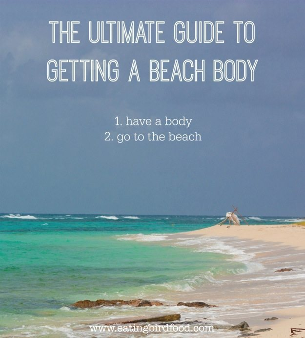Beach body guide