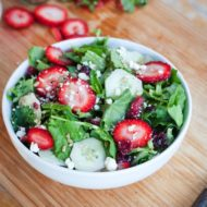 Baby Kale and Strawberry Summer Salad