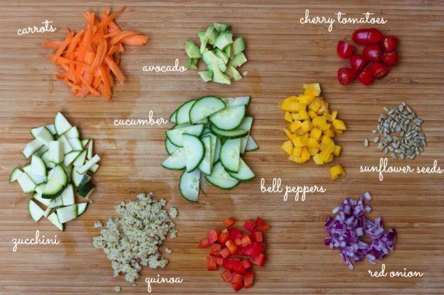 Kaleidoscope Salad Ingredients