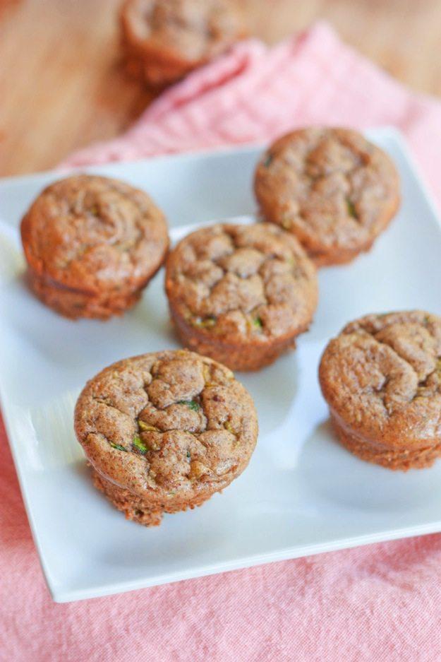 Flourless Zucchini Muffins #glutenfree