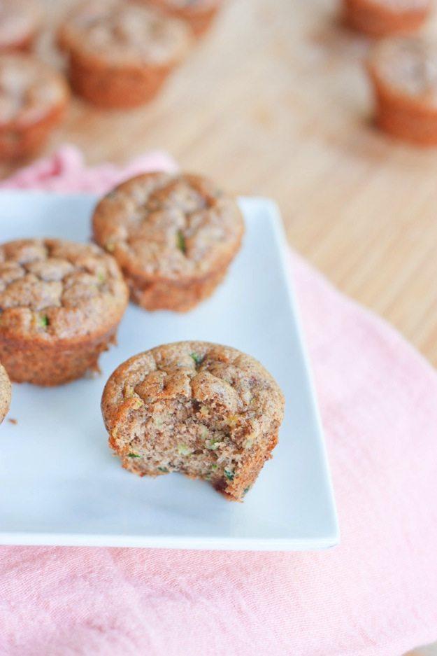 Flourless Almond Butter Zucchini Muffins - Eating Bird Food