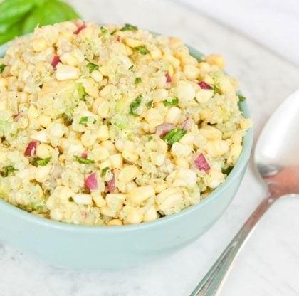 Fresh Corn, Avocado and Quinoa Salad (or dip)