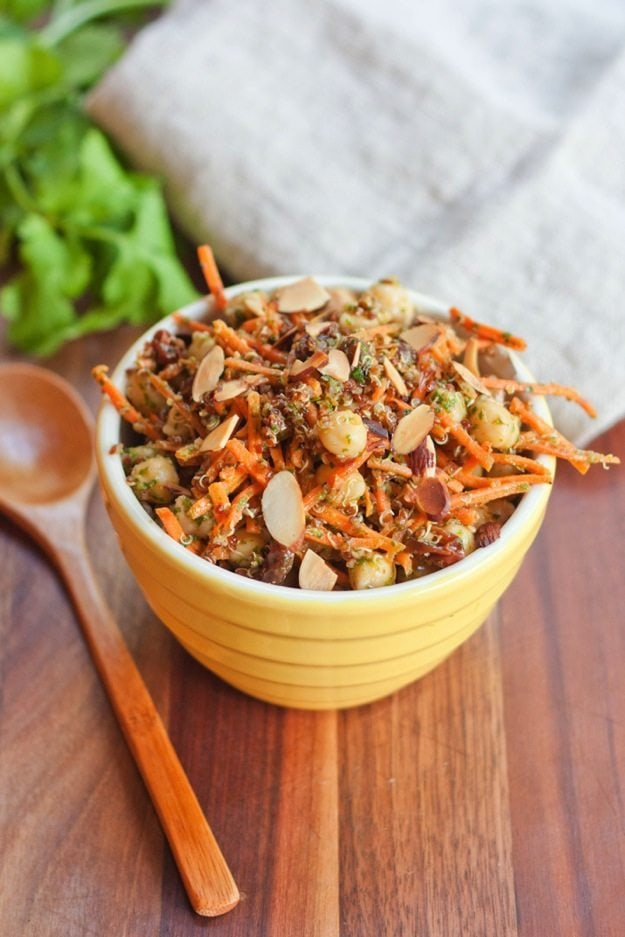 Eating Bird Food - Carrot Raisin Quinoa Salad