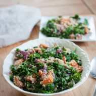 Roasted Sweet Potato, Kale and Quinoa Salad