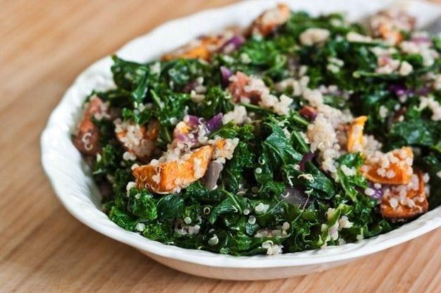 Roasted Sweet Potato, Kale and Quinoa Salad - Eating Bird Food