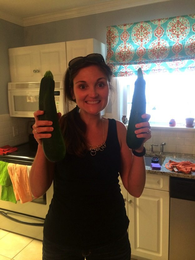 zucchini from our garden
