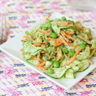 Gena's Carrot and Zucchini Noodles with Pesto and Peas