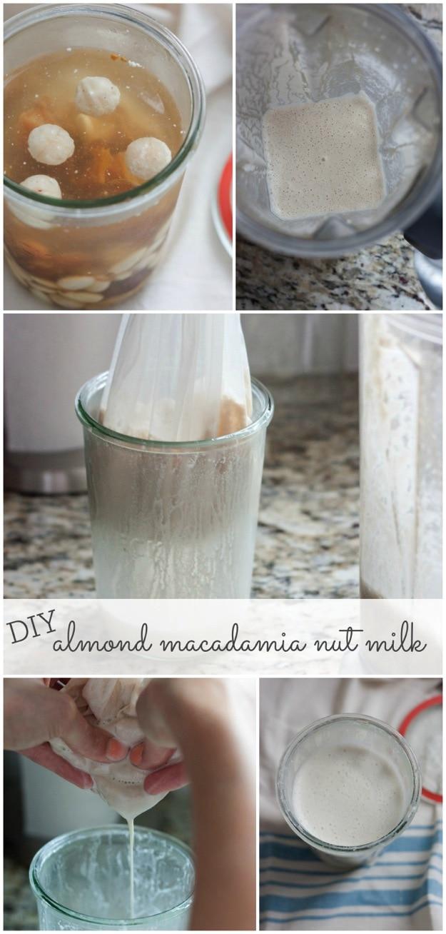 DIY Homemade Almond Macadamia Nut Milk